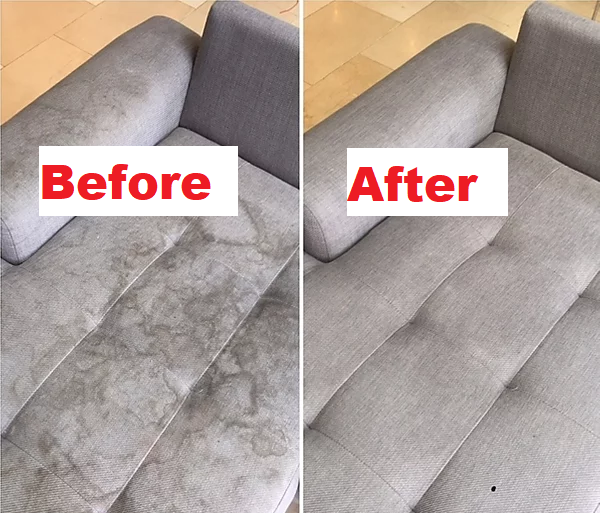 before after fabric couch